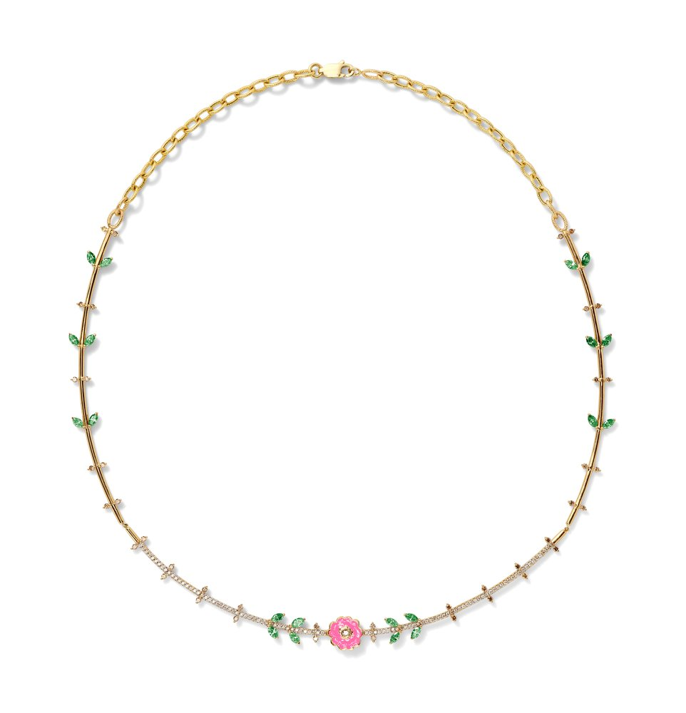 The necklace from the capsule collection.