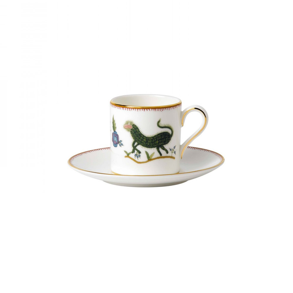 Espresso cup and saucer.