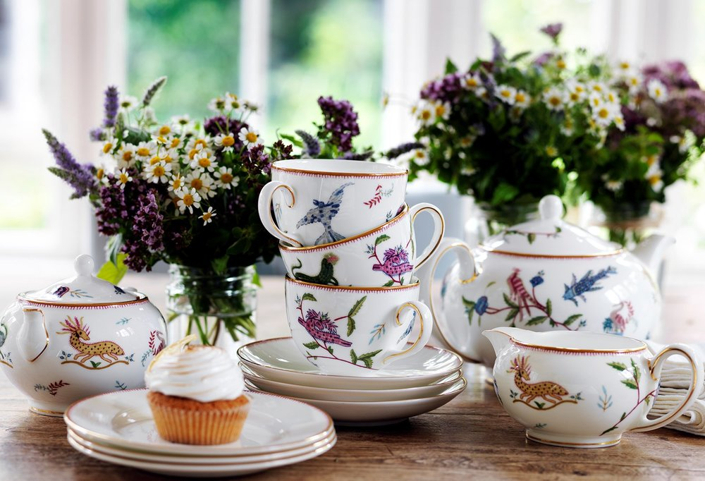 Tea service at Firmdale Hotels.