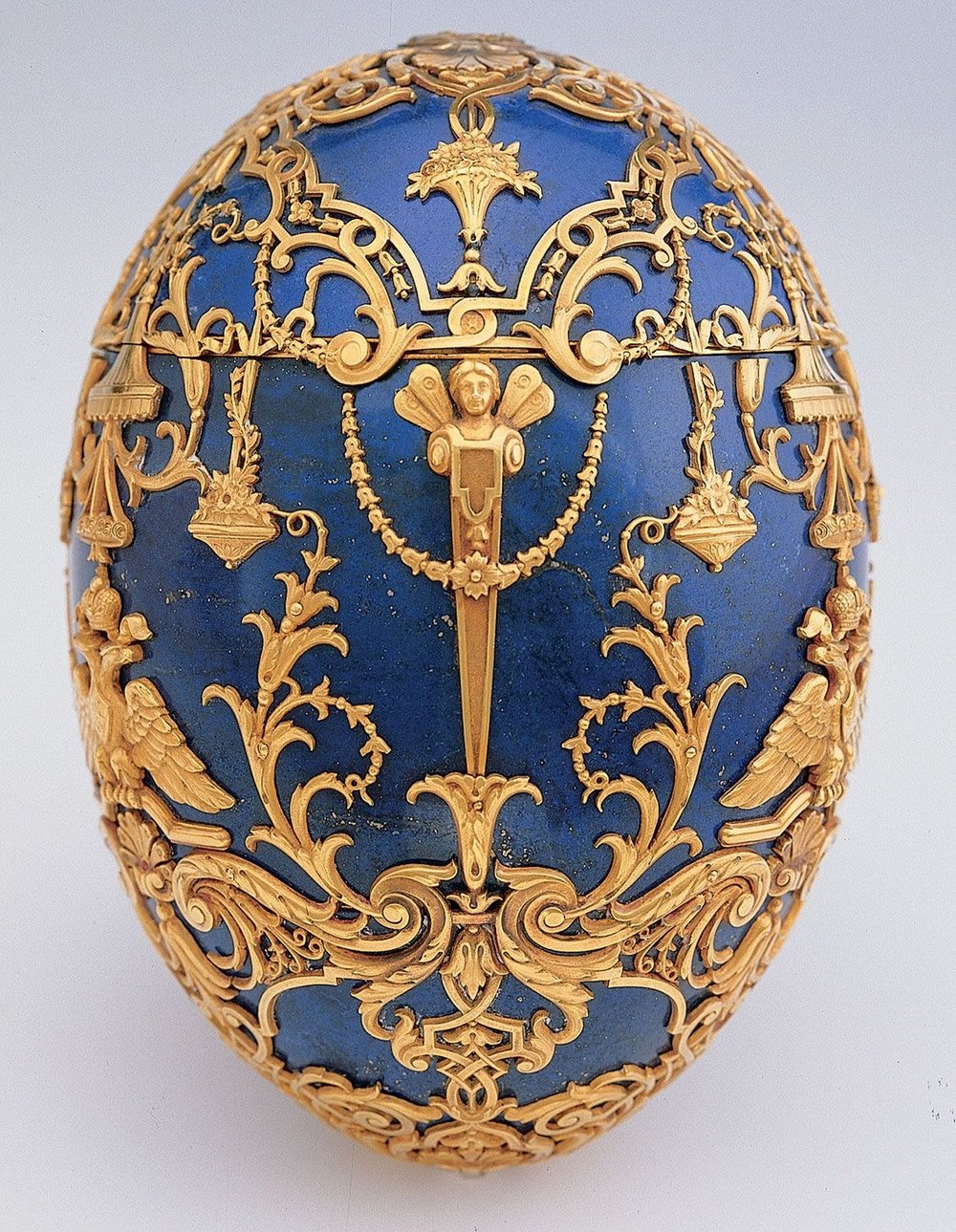 Nicholas II's son, Alexei, had hemophilia and nearly died from it in 1912. The Tsesarevich Easter Egg was commissioned to celebrate his victory over the illness after the worrisome year.