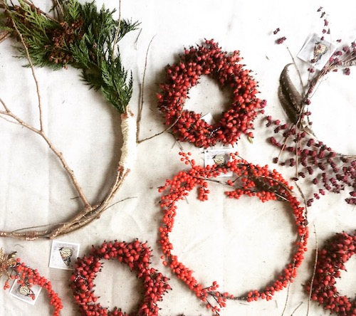 Clary Sage Studio - Florist and Journalist Katie Githens Katie is also returning to Studio Den Featured. This is her second year showing her holiday wreaths here. You will see her with rolled up sleeves, sharing her inspiration and work process.