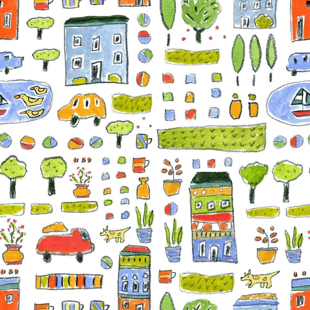 Doodle Sketch Paint Pattern