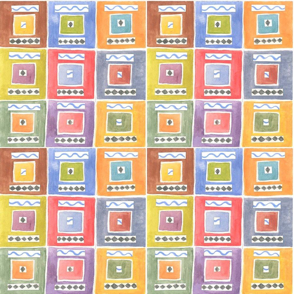 Checkerboard Colors Collage