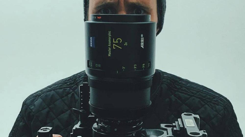 Burning Reel director Chris Sims behind the lens
