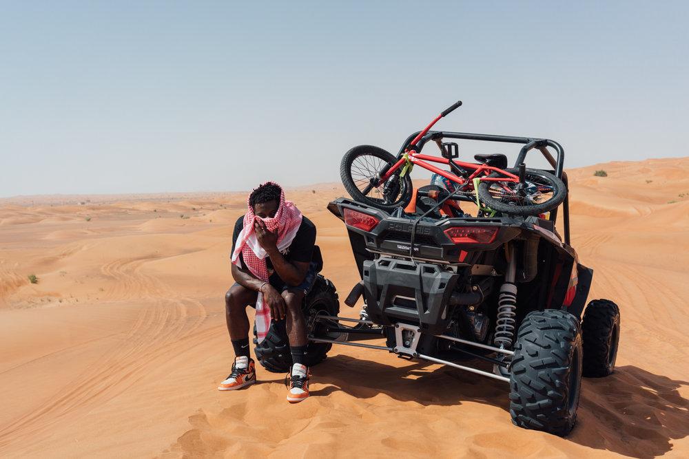 Nigel Sylvester in Dubai