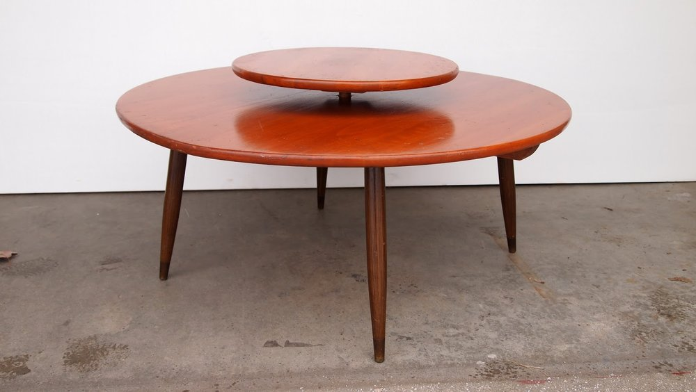Beautiful Mid Century Modern Lazy Susan Coffee Table By Colonial Craft