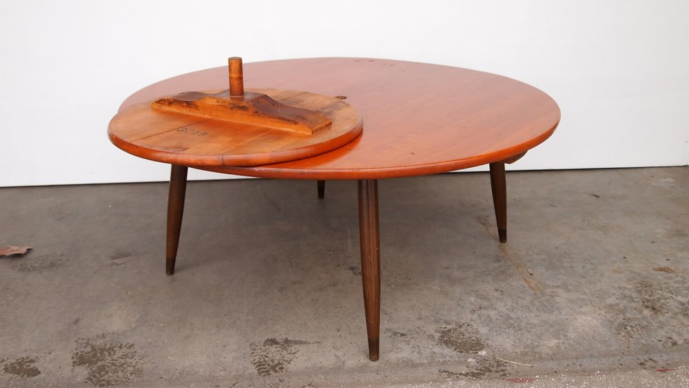 Delicieux Beautiful Mid Century Modern Lazy Susan Coffee Table By Colonial Craft