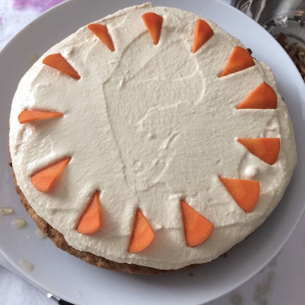 Carrot Cake and other Cakes and Pies by available by request:    bettinazumdick@gmail.com