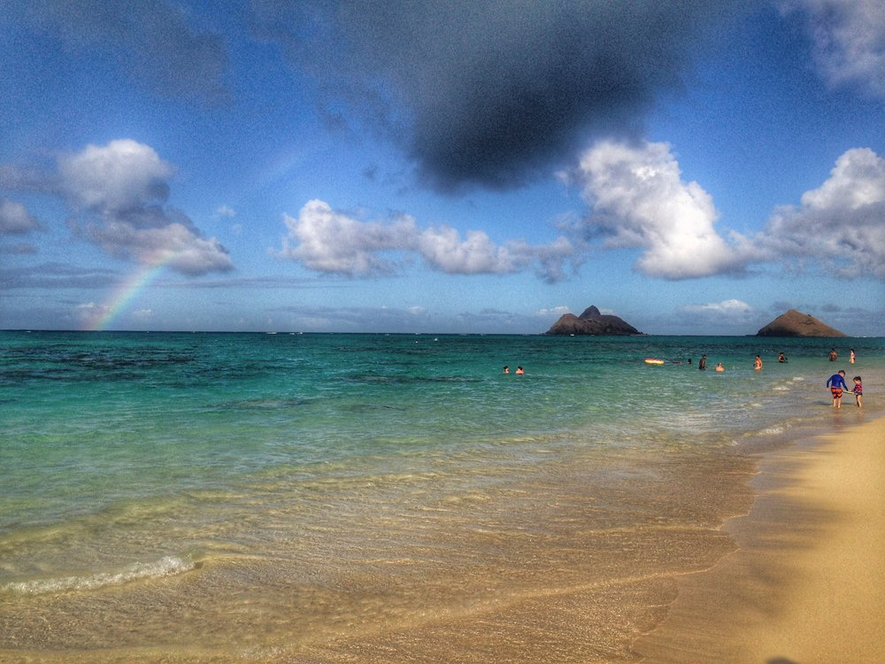Rainbow at Lanikai Beach