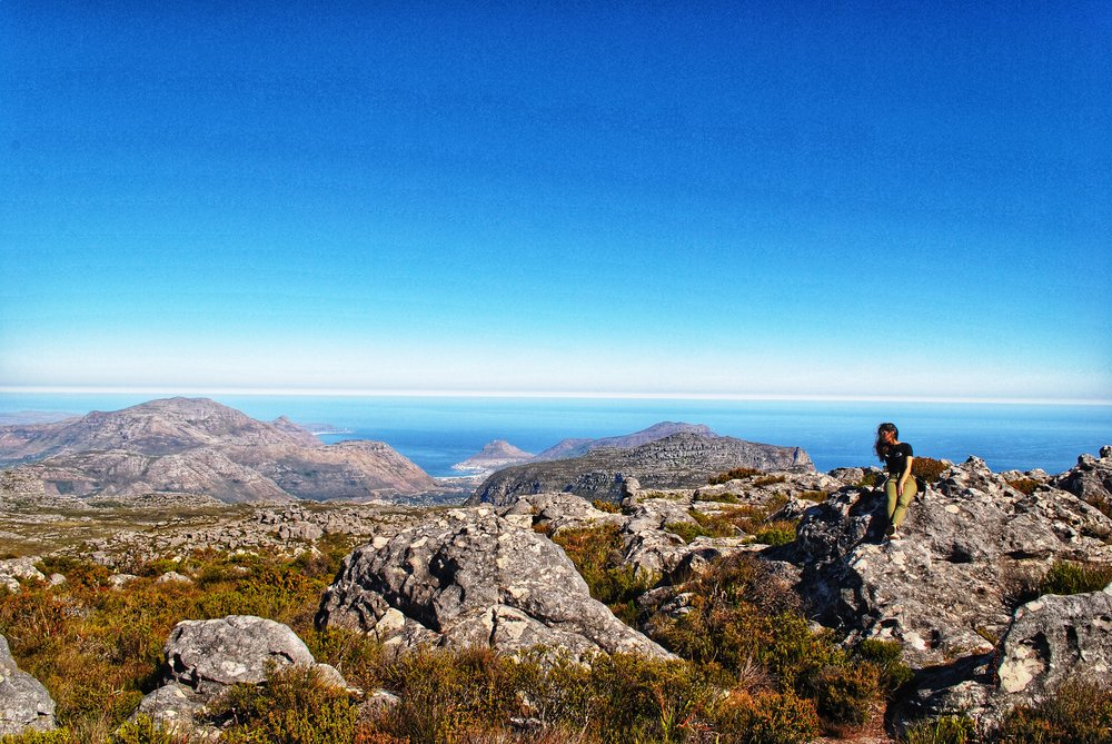 Table Mountain overlooking False Bay