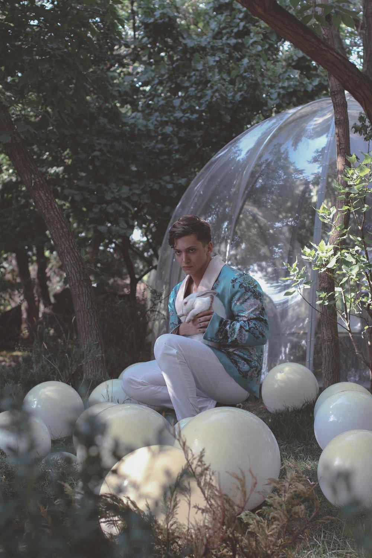 Vahan Khachatryan Couture  pajama jacket x  Maison Margiela  trousers