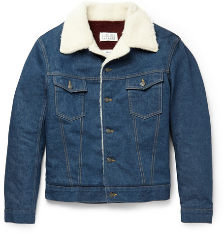 Maison Margiela Denim Shearling Jacket