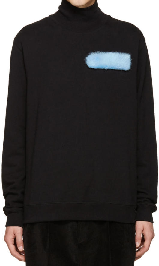MSGM Fur Patch Turtleneck