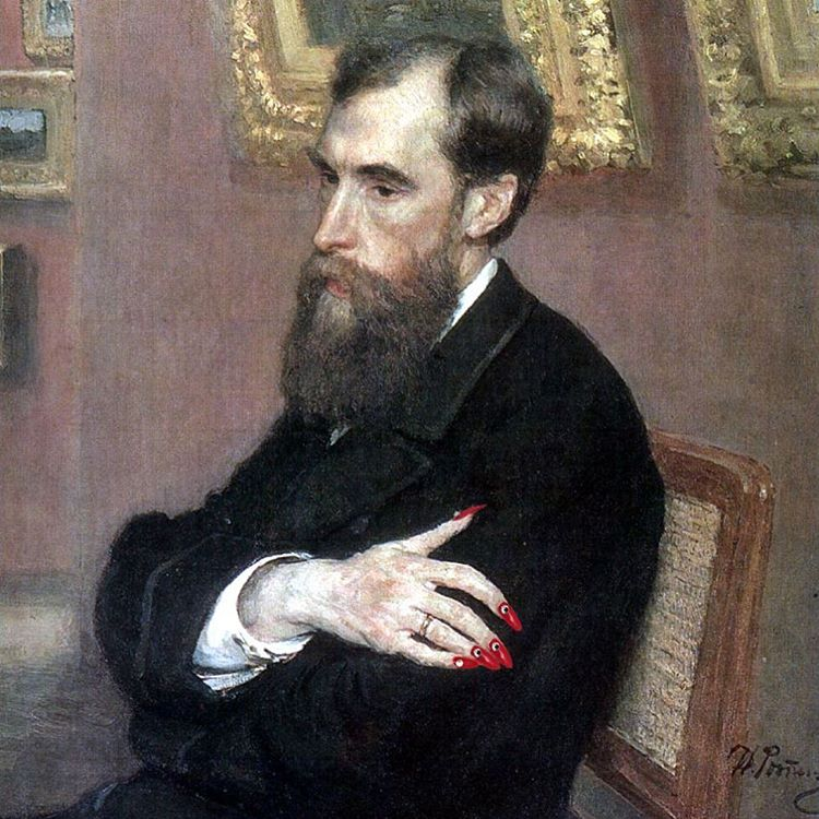 Original: Portrait of Tretyakov by Ilya Repin Added: Balenciaga S/S 17 Nails