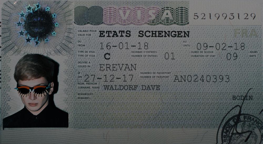 Walter Van Beirendonck x FakByFak sunglasses, Saint Laurent shirt, Schengen Visa, Paris