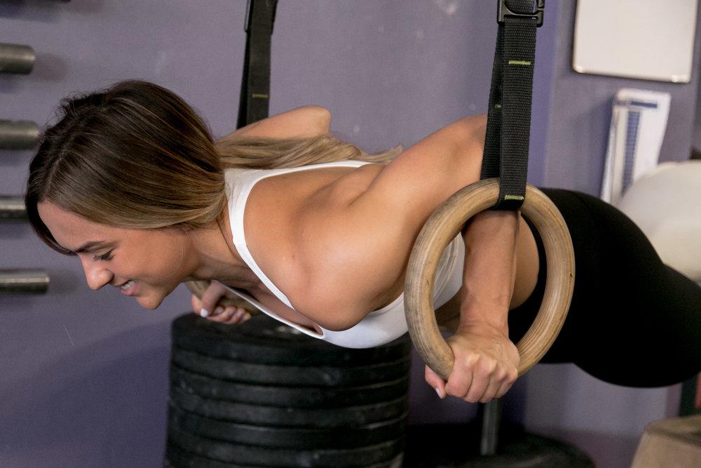 ring push up, ring strength