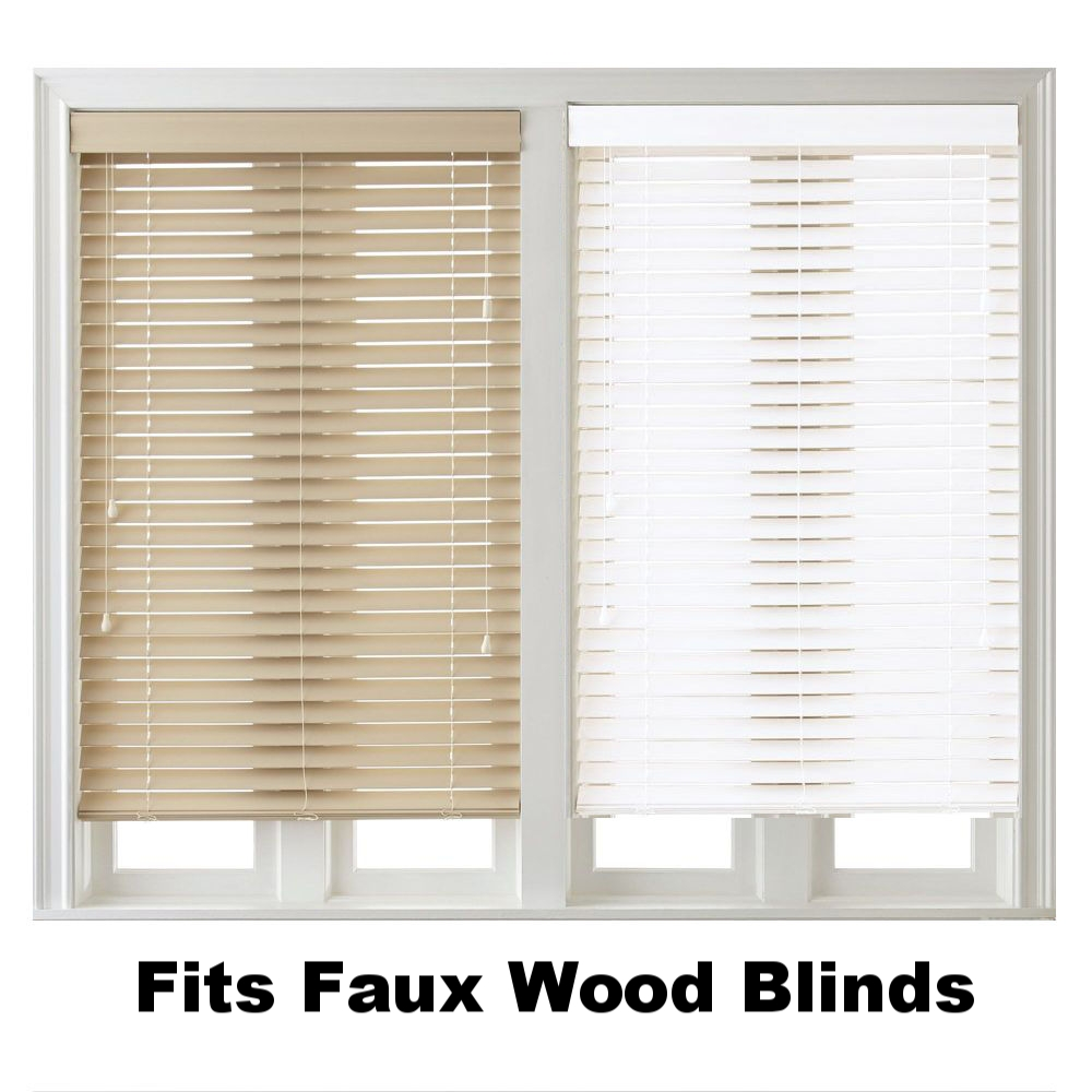 Faux Wood Blinds Home Decorators Collection White 212 In Premium Faux Wood Blind Faux Wood