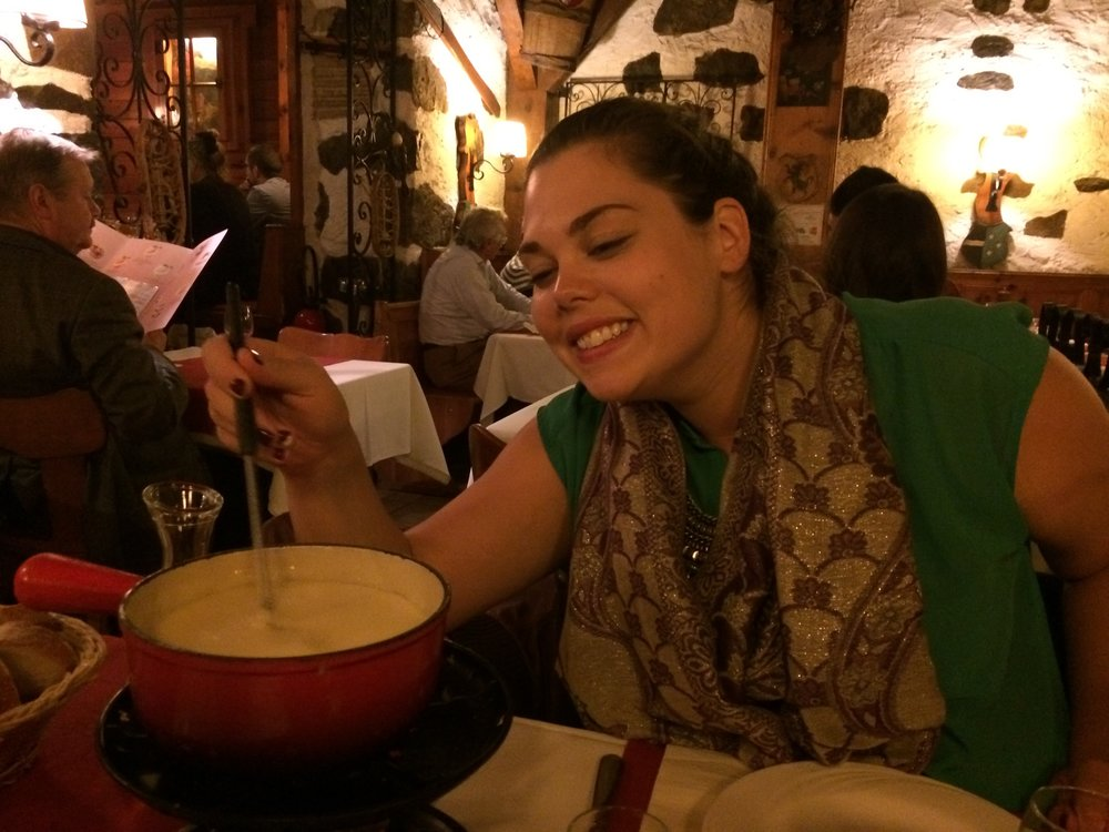 Cheese fondue in Geneva, Switzerland