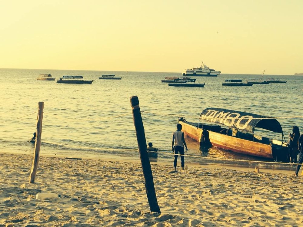 View from my favourite beach bar in Stone Town.