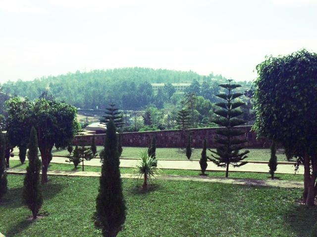 Beautiful green hills of Kigali, Rwanda