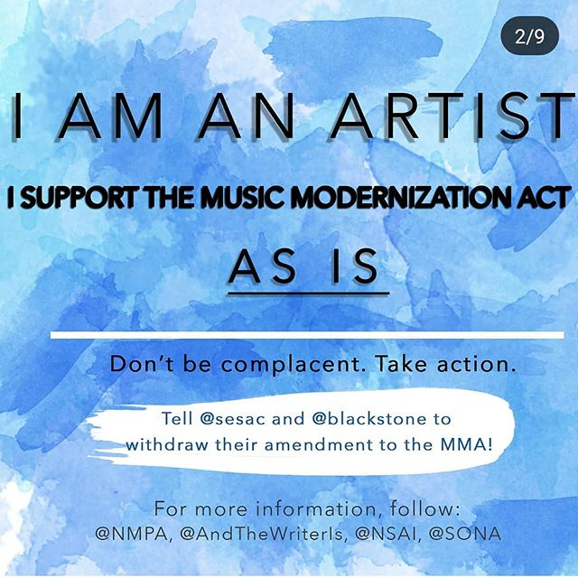 We are songwriters and artists and fans and we support the #musicmodernizationact as is! We urge you @sesac and @blackstone to withdrawal your amendment!