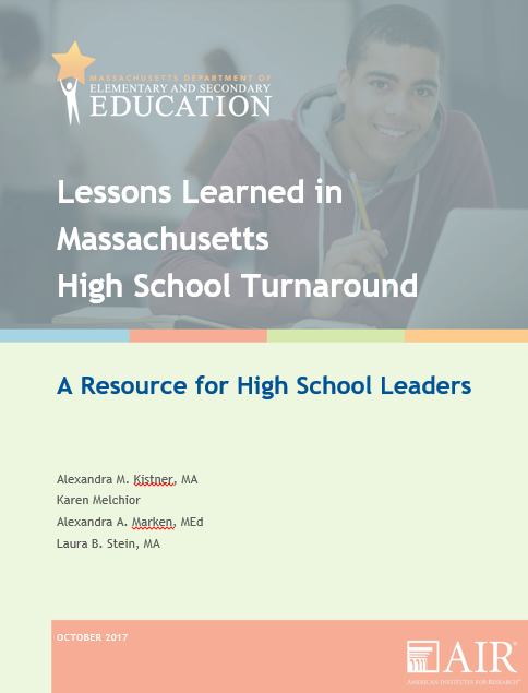 Ma Dept Of Elementary And Secondary >> Lessons Learned In Massachusetts High School Turnaround Turnaround