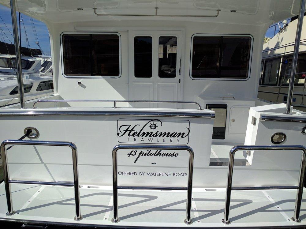 Premium vinyl logo for a private boat