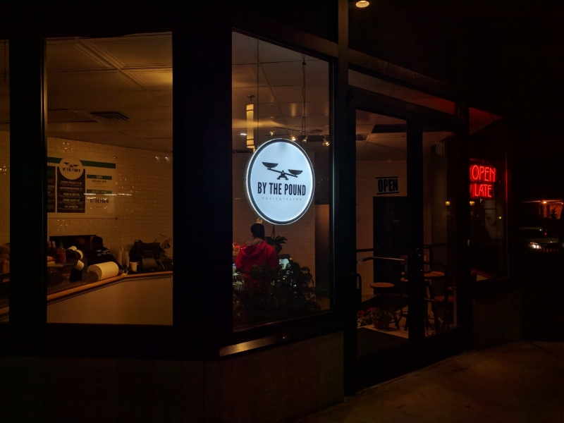 By The Pound Deli: Interior LED sign