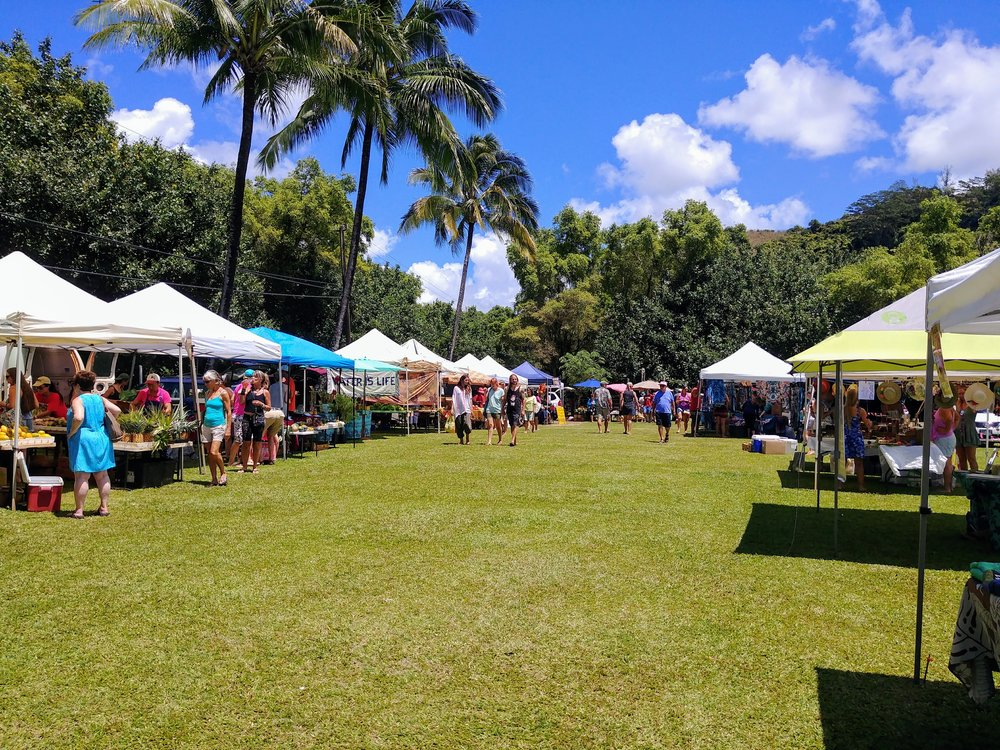 The Tuesday Waipa Farmers Market in Kauai, HI.
