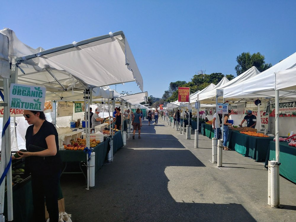 The Sunday Farmers Market in Malibu, CA.