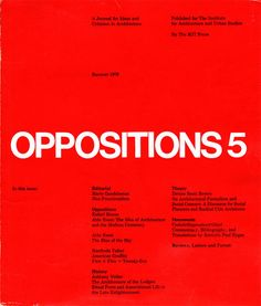 oppositions-magazine