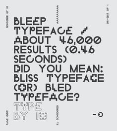 Poster // typography