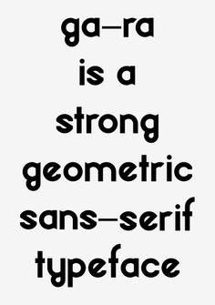 Gara Typeface - OCUL