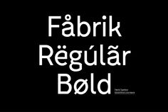 Fabrik Typeface