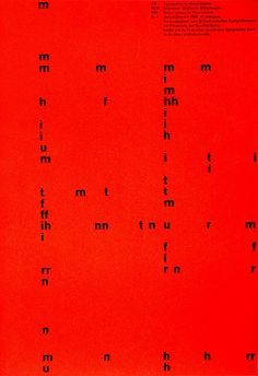 Typographic poster d