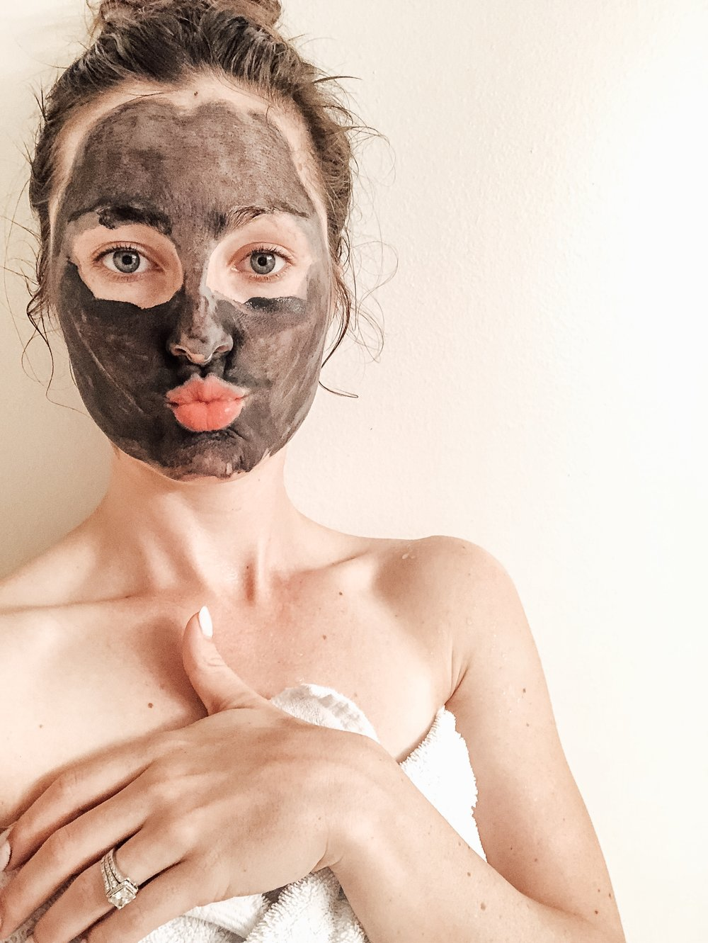 Beautycounter Balancing FAcial Mask with activated charcoal
