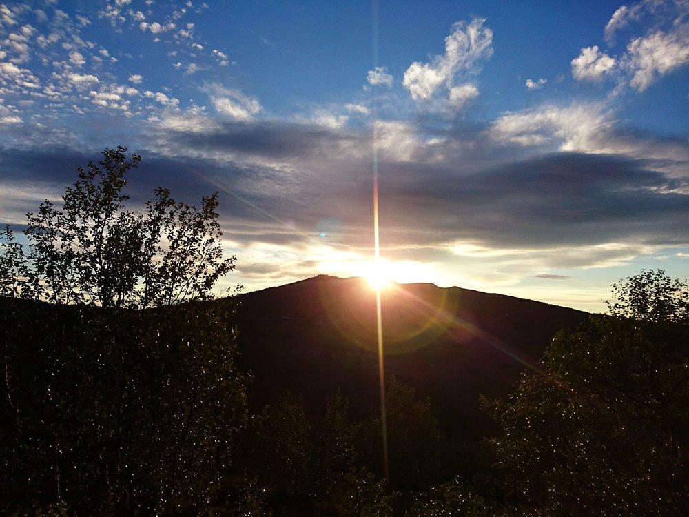 Solnedgång över Luossavaara