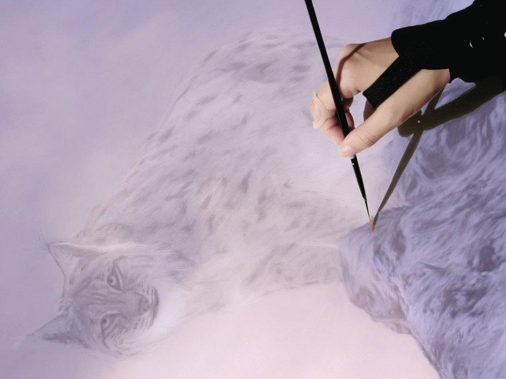 Jag har länge haft en bild i tankarna kring en tavla alldeles särskilt för just vintersolståndet, och nu fick jag äntligen tiden till att måla den.