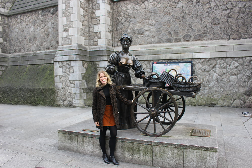 With Molly Malone in Dublin