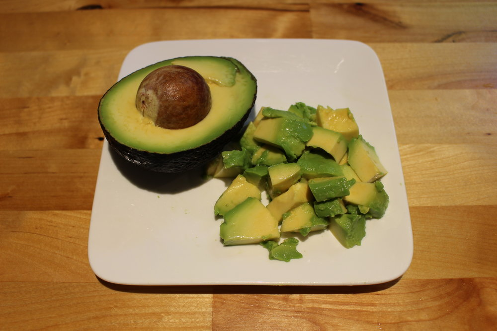 Avocado to give the salad another dimension