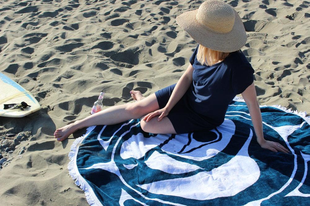 Habit Dress, Club Monaco Hat, Tofino Towel