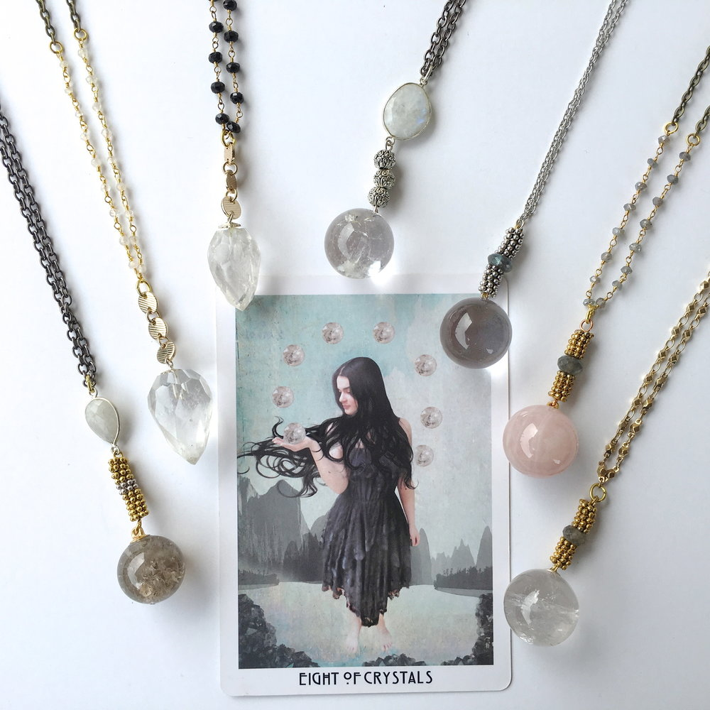 CRYSTAL BALL NECKLACES