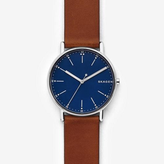 SKAGEN ,  Signatur Leather Watch, $125