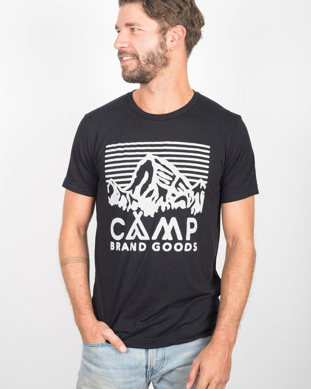 Camp Brand Goods   ,  Heritage Logo T-Shirt , Black, $40.00