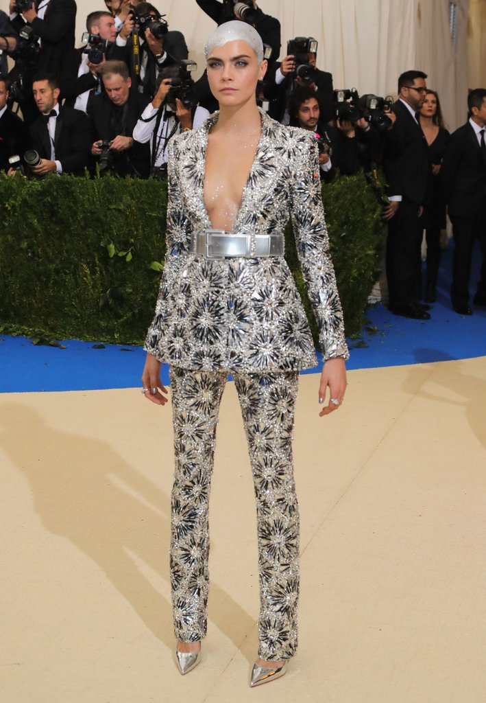 Cara Delevingne wearing  Chanel Haute Couture