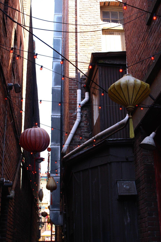 The lanterns of Fan Tan Alley