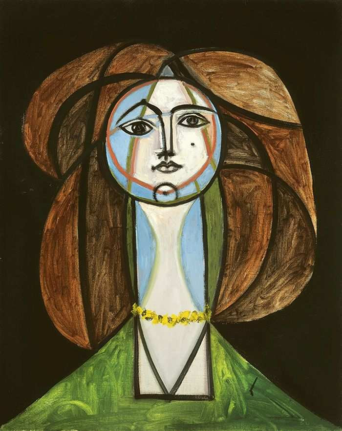 Pablo Picasso,  Femme au Collier Jaune , 1945, Oil on Canvas.