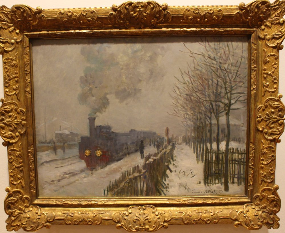 Train in the Snow. The Locomotive, 1875
