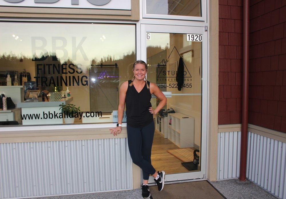 Kara outside The Studio