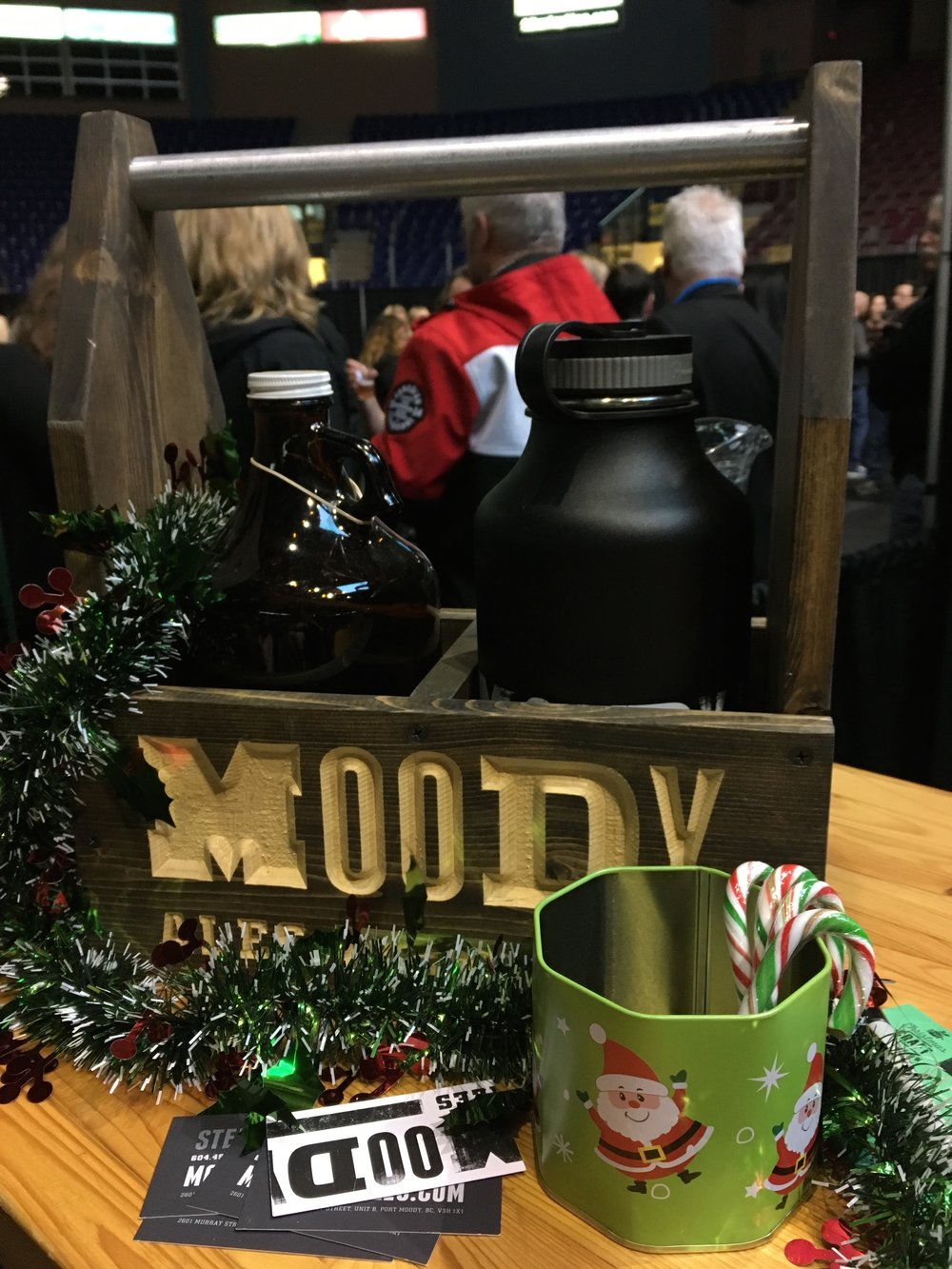 The  Moody Ales,  Port Moody, BC, stand at the Craft Beer Show.